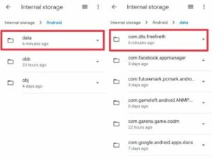 Berikutnya-klik-pada-folder-penyimpanan-data-dan-cari-opsi-com.dts_.freefireth-dan-buka-saja-folder-file-dengan-klik-Contentcache